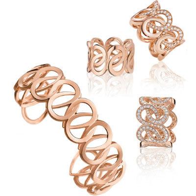 c3c8be23d49e Изящный браслет из красного золота украшен 567 круглыми камнями общим весом  6,842 карата. Основным декоративным элементом браслета ...
