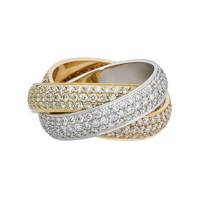 Cartier Anello Trinity Diamanti